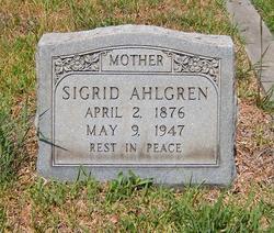 Sigrid <I>Olsen</I> Ahlgren