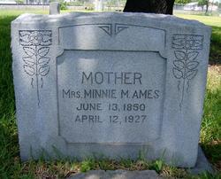 """Malona Minerva """"Minnie"""" <I>West</I> Ames"""
