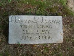 Annie <I>Adams</I> Sturgis