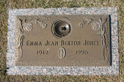 Emma Jean <I>Berton</I> Jones