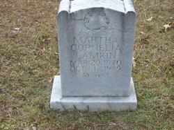 Martha Cornelia <I>Hinton</I> Lamkin