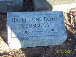 Hazel June <I>Taylor</I> Summers
