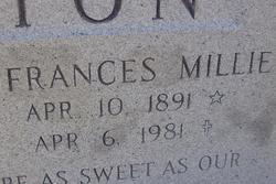 "Frances Mildred ""Millie"" <I>Davis</I> Buxton"