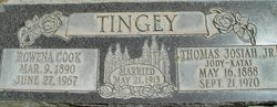 Rowena <I>Cook</I> Tingey