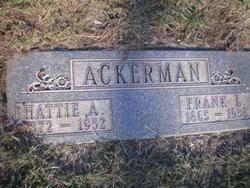 Hattie A <I>Garlick</I> Ackerman
