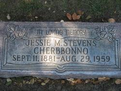 Jessie M. <I>Stevens</I> Cherbbonno