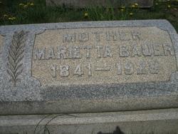 Marietta <I>Haas</I> Bauer