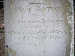 Mary <I>Bartram</I> Robeson