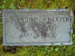 Vina <I>Gunter</I> Baxter