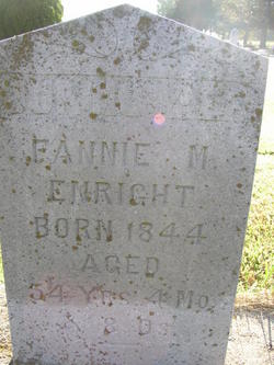 "Frances M ""Fannie"" <I>Churchill</I> Enright"