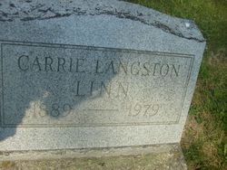 Carrie <I>Langston</I> Linn