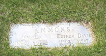 Esther <I>Davis</I> Ammons