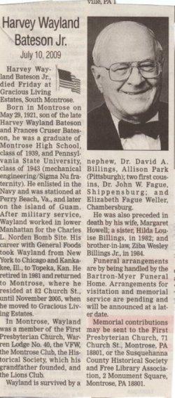 Harvey Wayland Bateson, Jr