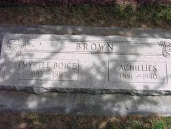 Myrtle <I>Boice</I> Brown