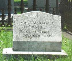Mary <I>Marshall</I> Braziel