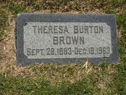 Theresa <I>Burton</I> Brown