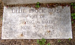 Lillie <I>Brock</I> Baker