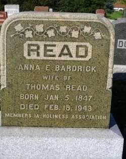 Anna Elizabeth <I>Bardrick</I> Read