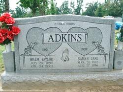 Sarah Jane <I>Anderson</I> Adkins