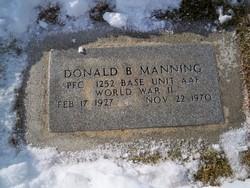 PFC Donald B Manning