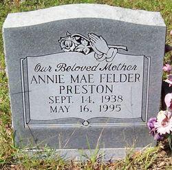 Annie Mae <I>Felder</I> Preston