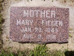 """Barbara Madgalena Maria """"Mary"""" <I>Wagner</I> Fiegen"""