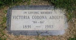 Victoria <I>Codona</I> Adolph