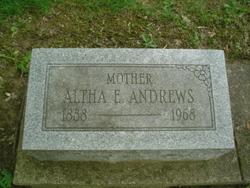 Altha E. <I>Cook</I> Andrews