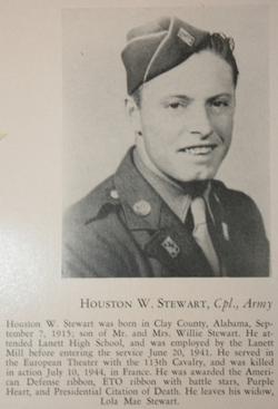 Pvt Houston W Stewart