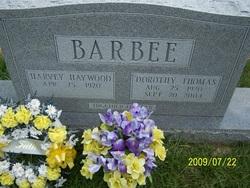 Dorothy <I>Thomas</I> Barbee