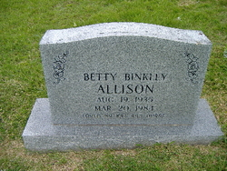 Betty <I>Binkley</I> Allison