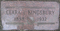 Clara Louise <I>Freeman</I> Kingsbury