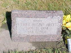 Ethel Marie Hays