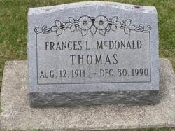 Frances L. <I>McDonald</I> Thomas