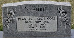 "Francis Louise ""Frankie"" <I>Kilpatrick</I> Core"
