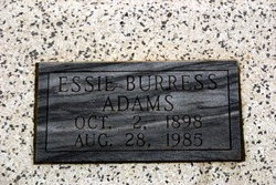 Essie <I>Burress</I> Adams