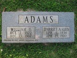 Harriett A <I>Gist</I> Adams