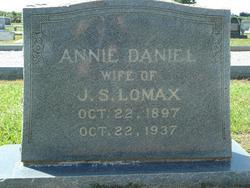 Annie Irene <I>Daniels</I> Lomax