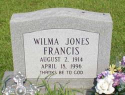 Wilma <I>Jones</I> Francis