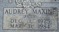 Audrey Maxine <I>Rimer</I> Moore