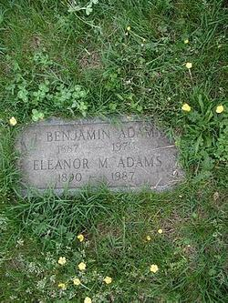 Mrs Eleanor Ford <I>Marshall</I> Adams