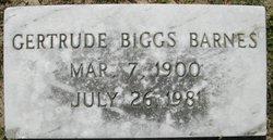 Gertrude <I>Biggs</I> Barnes