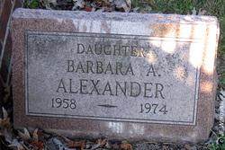 Barbara A Alexander