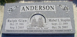 Mabel Louise <I>Staples</I> Anderson