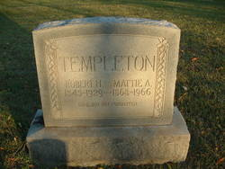 "Martha A. ""Mattie"" <I>Riley</I> Templeton"