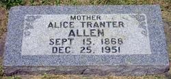 Alice Jane <I>Tranter</I> Allen