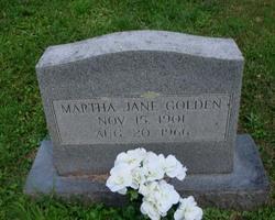 Martha Jane <I>Pratt</I> Golden