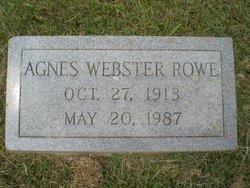 Joy Agnes <I>Webster</I> Rowe