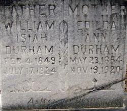 Edilda Ann <I>Cliett</I> Durham