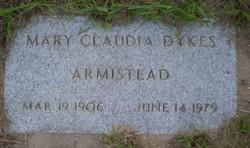 Mary Claudia <I>Dykes</I> Armistead